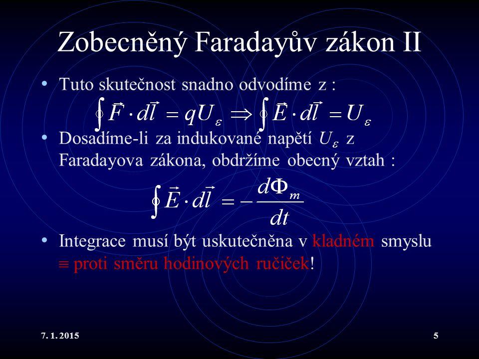 Zobecněný Faradayův zákon II