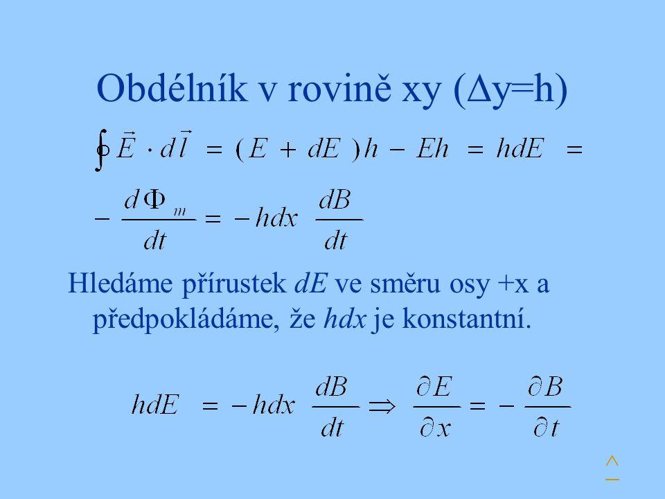Obdélník v rovině xy (y=h)