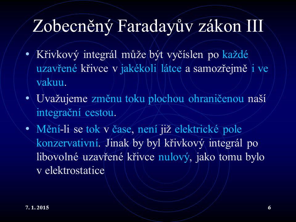 Zobecněný Faradayův zákon III