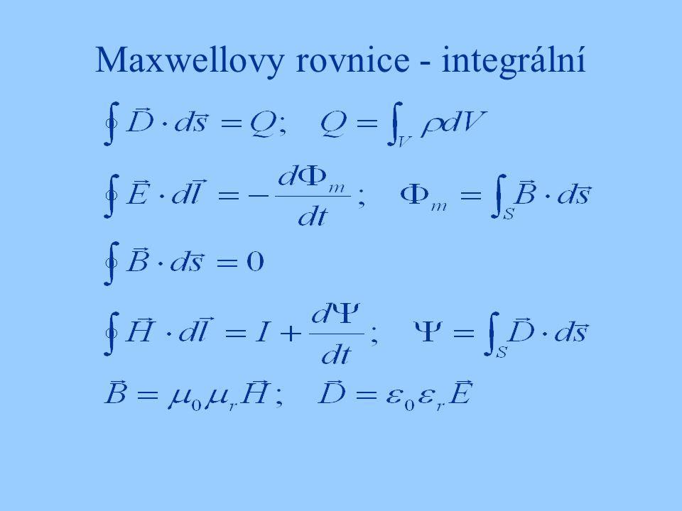 Maxwellovy rovnice - integrální