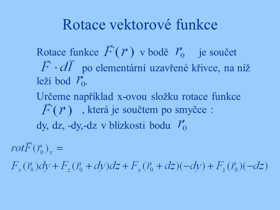 Rotace vektorové funkce