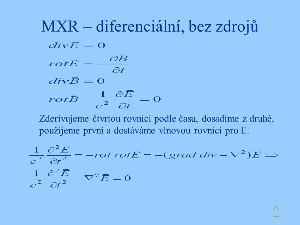 MXR – diferenciální, bez zdrojů