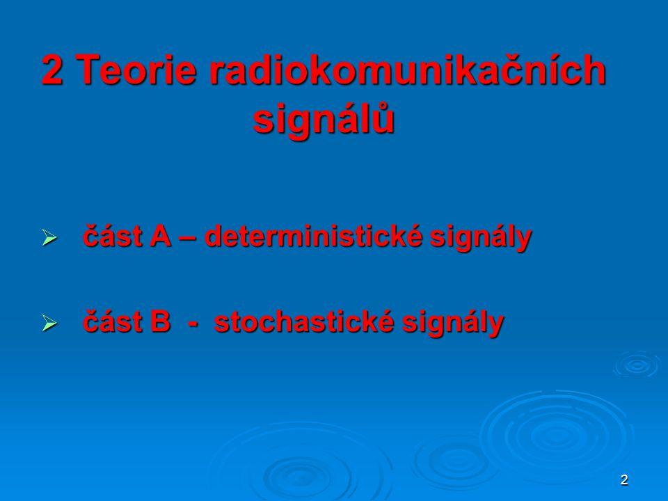 2 Teorie radiokomunikačních signálů