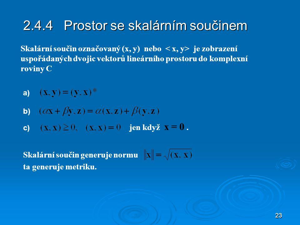 2.4.4 Prostor se skalárním součinem
