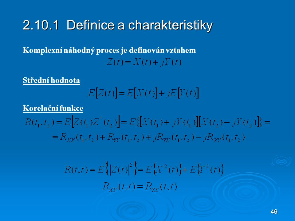 2.10.1 Definice a charakteristiky