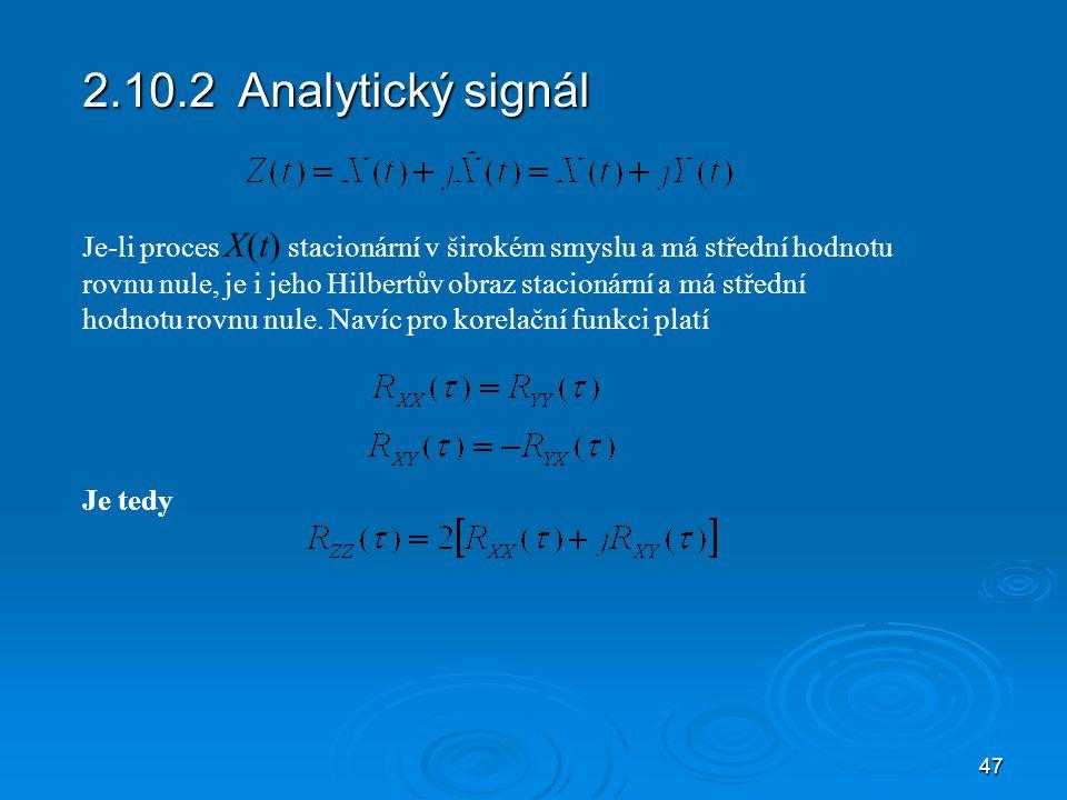 2.10.2 Analytický signál