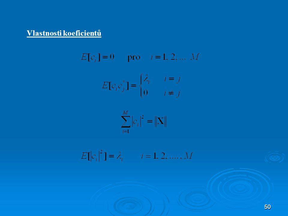 Vlastnosti koeficientů