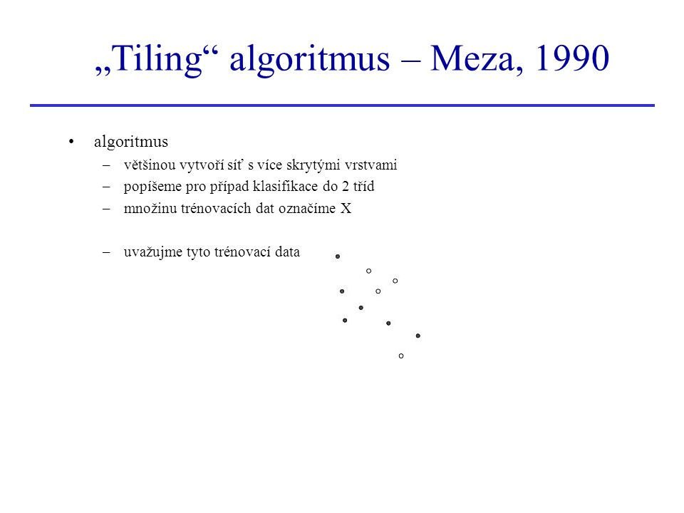 """Tiling algoritmus – Meza, 1990"