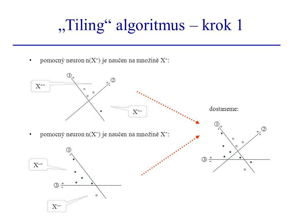 """Tiling algoritmus – krok 1"