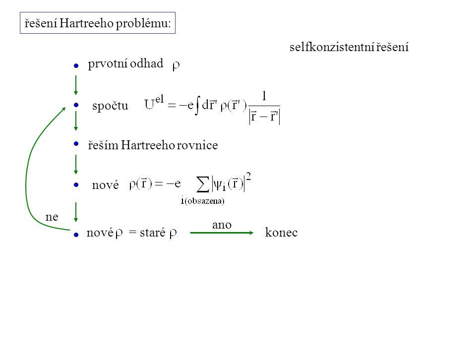 řešení Hartreeho problému: