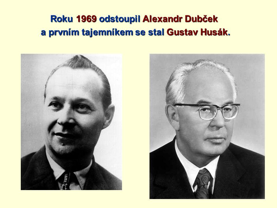 Roku 1969 odstoupil Alexandr Dubček