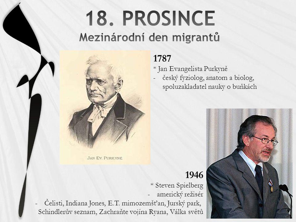 18. PROSINCE Mezinárodní den migrantů