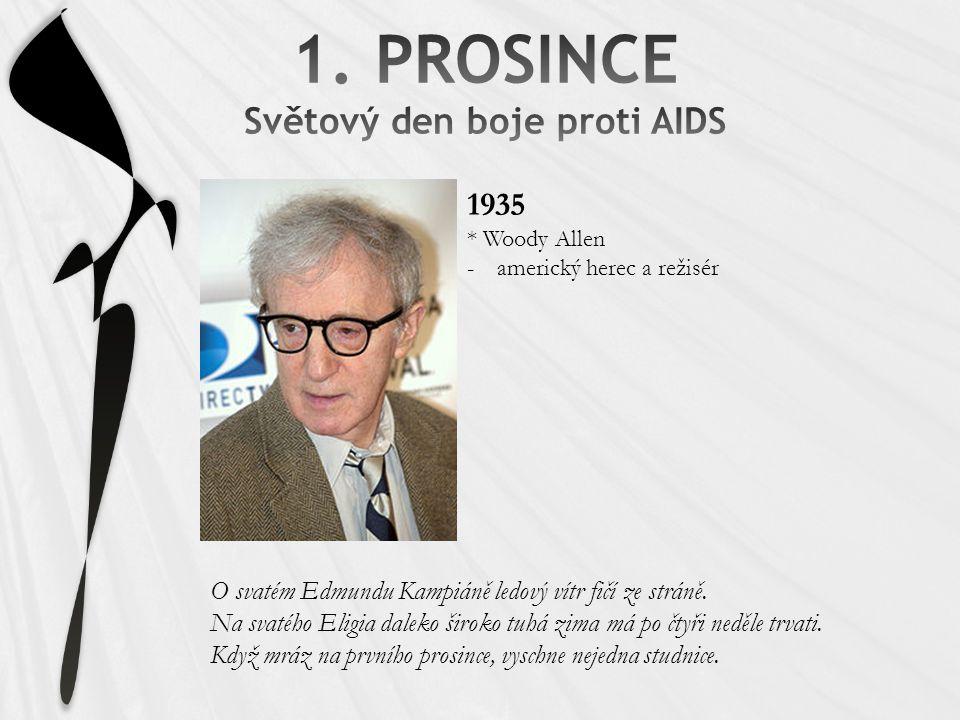 1. PROSINCE Světový den boje proti AIDS