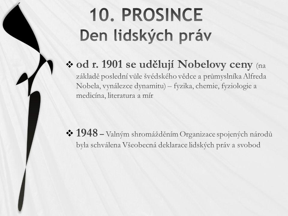 10. PROSINCE Den lidských práv