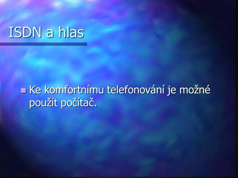 ISDN a hlas Ke komfortnímu telefonování je možné použít počítač.