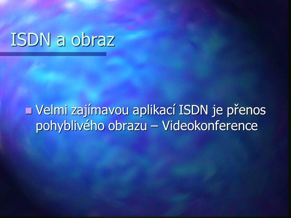ISDN a obraz Velmi zajímavou aplikací ISDN je přenos pohyblivého obrazu – Videokonference