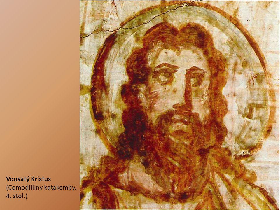Vousatý Kristus (Comodilliny katakomby, 4. stol.)