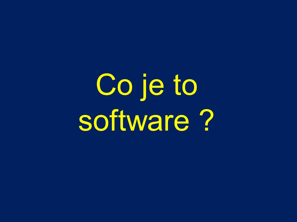 Co je to software