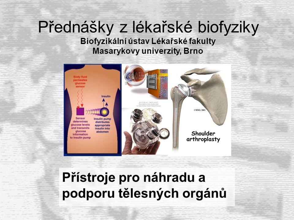 Přístroje pro náhradu a podporu tělesných orgánů