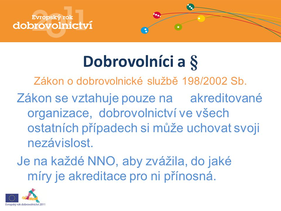 Zákon o dobrovolnické službě 198/2002 Sb.