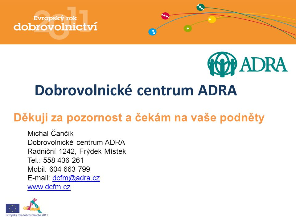 Dobrovolnické centrum ADRA