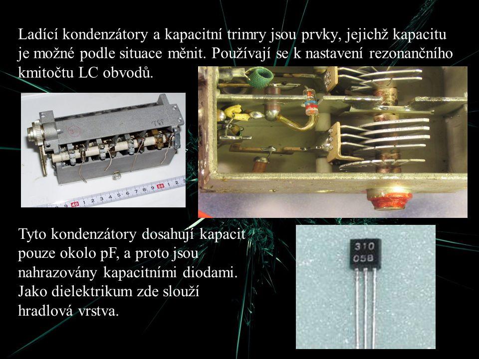Ladící kondenzátory a kapacitní trimry jsou prvky, jejichž kapacitu je možné podle situace měnit. Používají se k nastavení rezonančního kmitočtu LC obvodů.