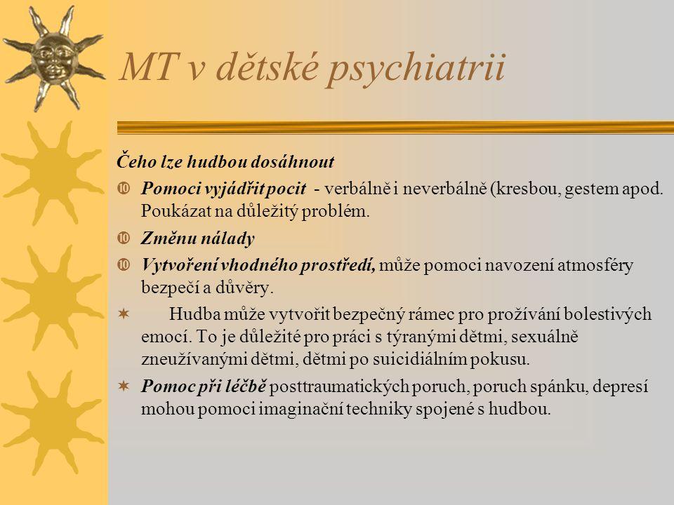 MT v dětské psychiatrii