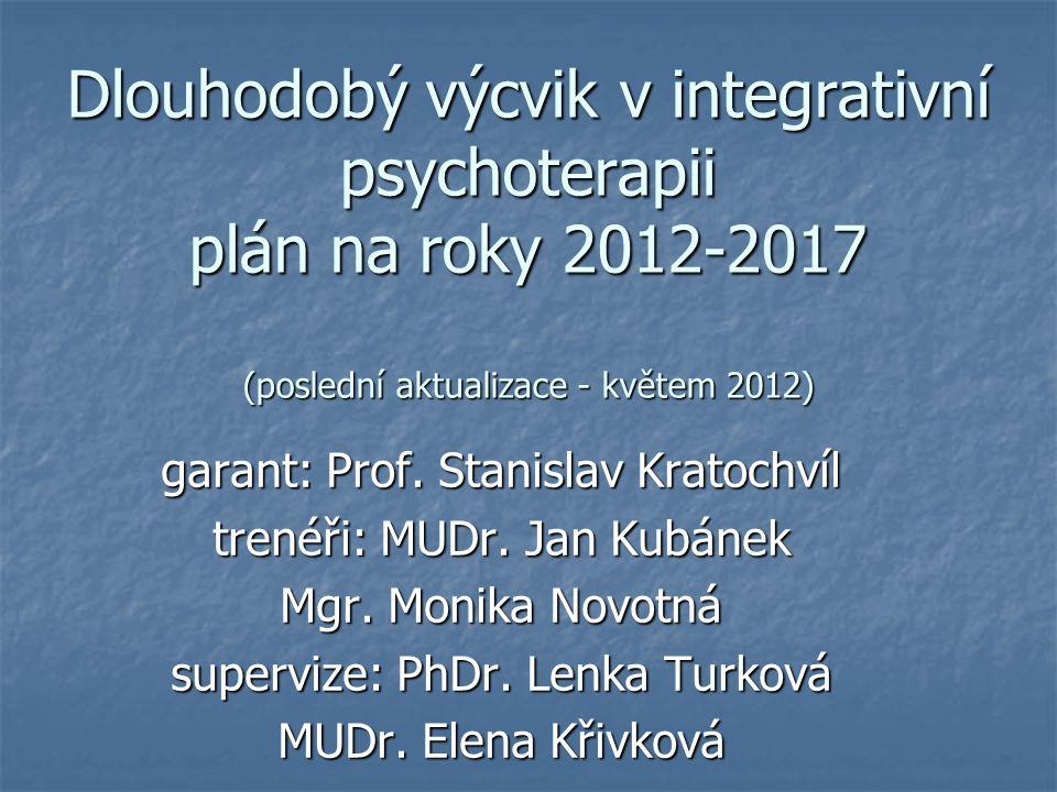 Dlouhodobý výcvik v integrativní psychoterapii plán na roky 2012-2017 (poslední aktualizace - květem 2012)