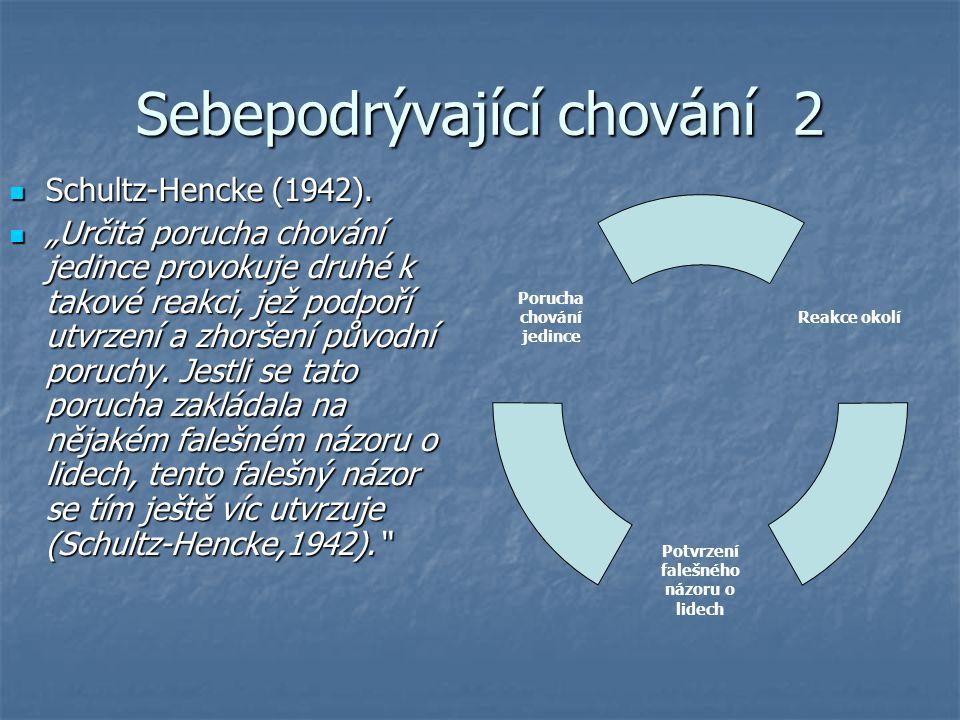 Sebepodrývající chování 2