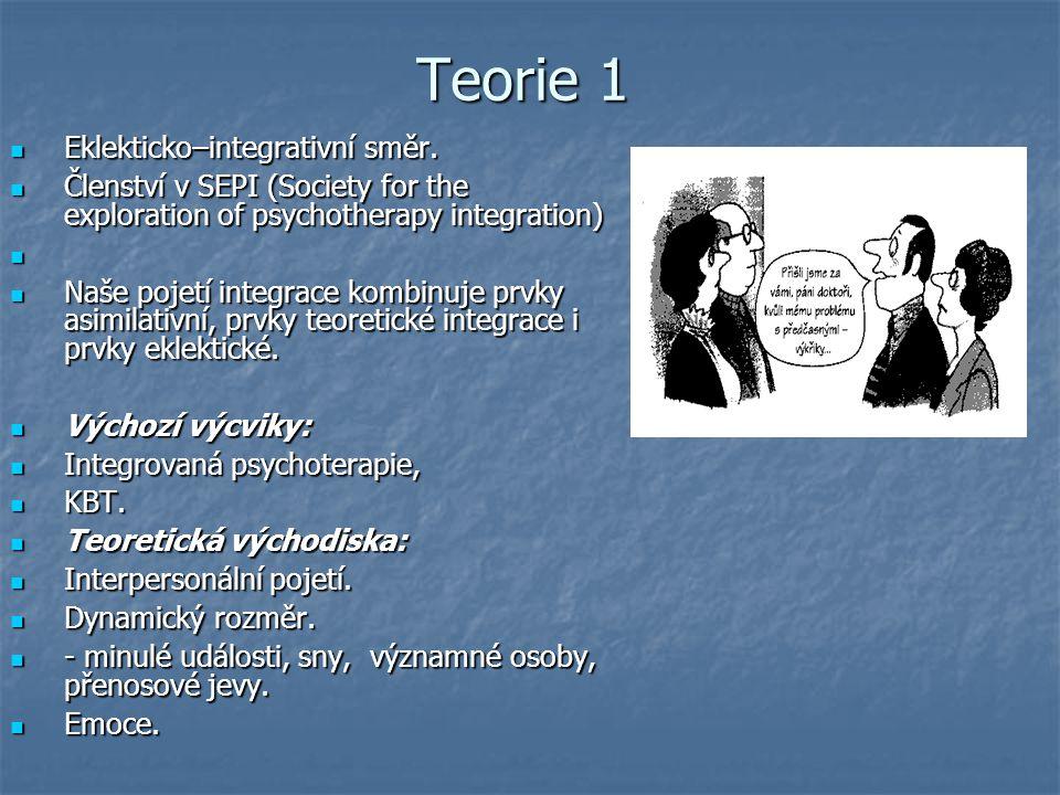 Teorie 1 Eklekticko–integrativní směr.