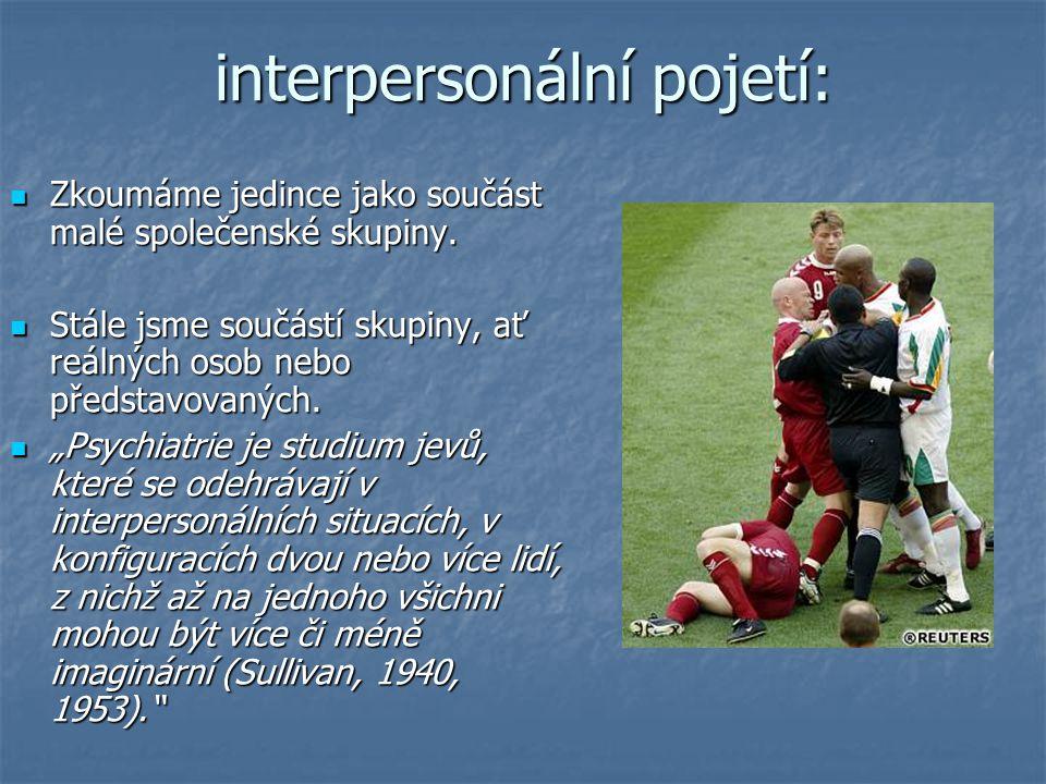 interpersonální pojetí: