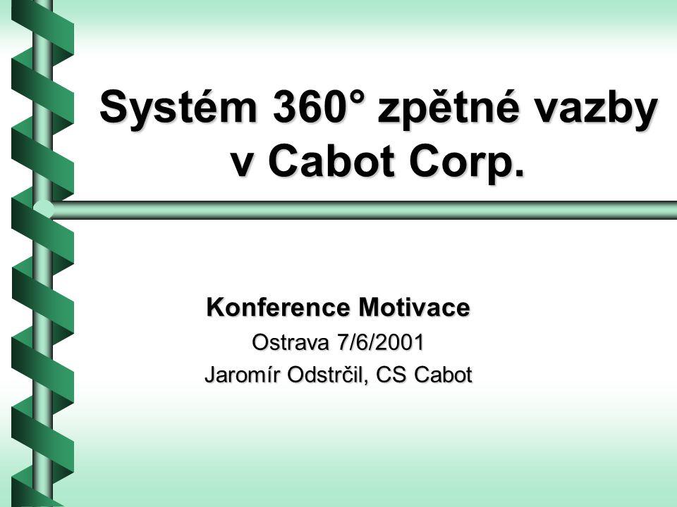 Systém 360° zpětné vazby v Cabot Corp.