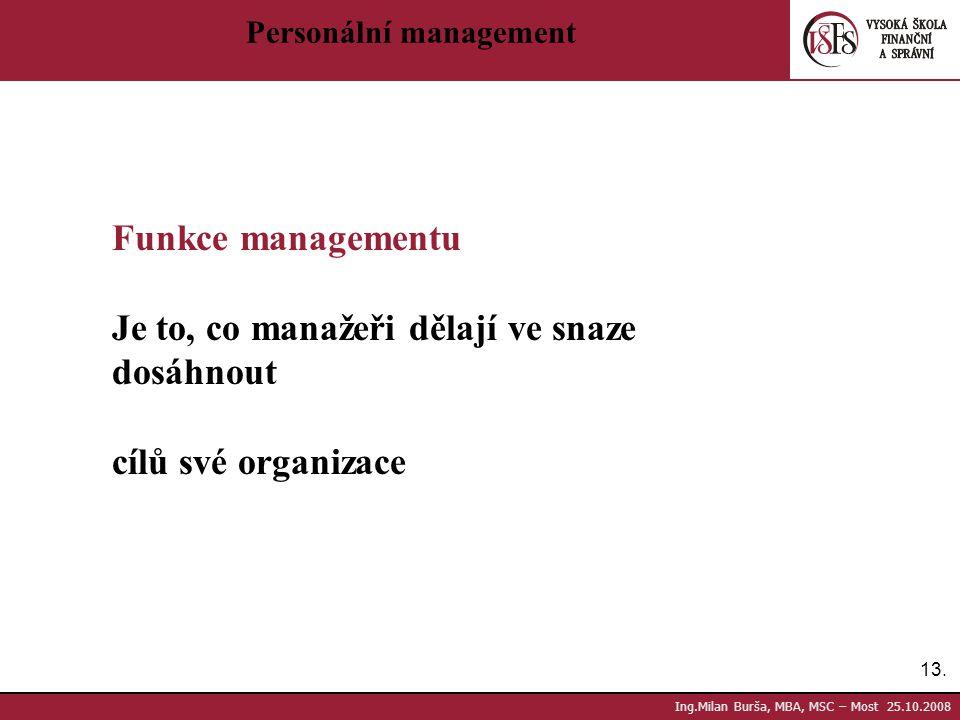 Je to, co manažeři dělají ve snaze dosáhnout