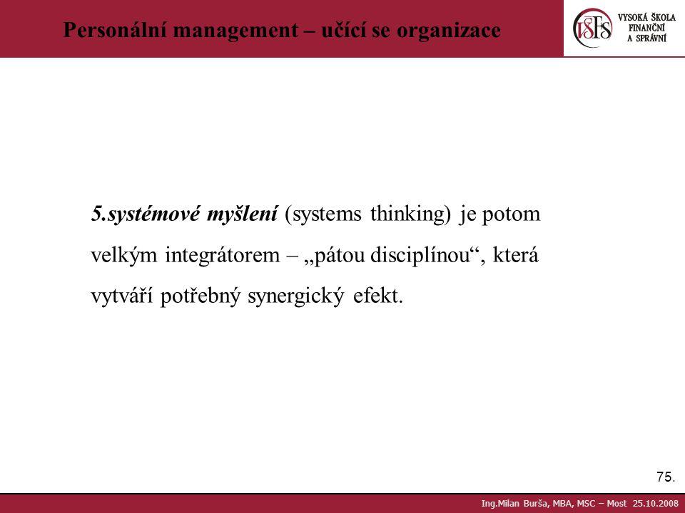Personální management – učící se organizace