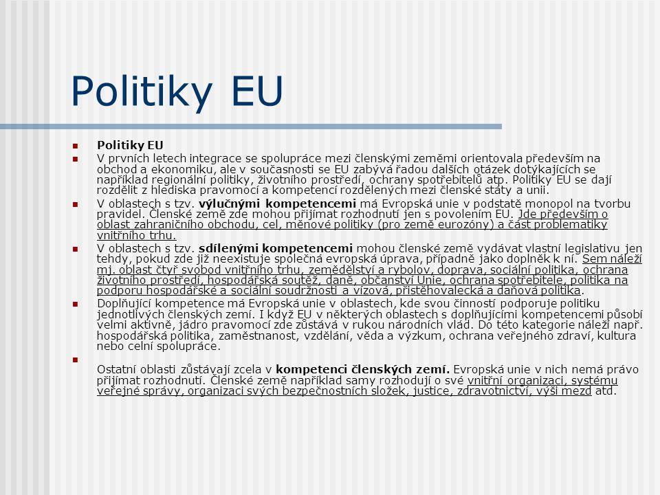 Politiky EU Politiky EU