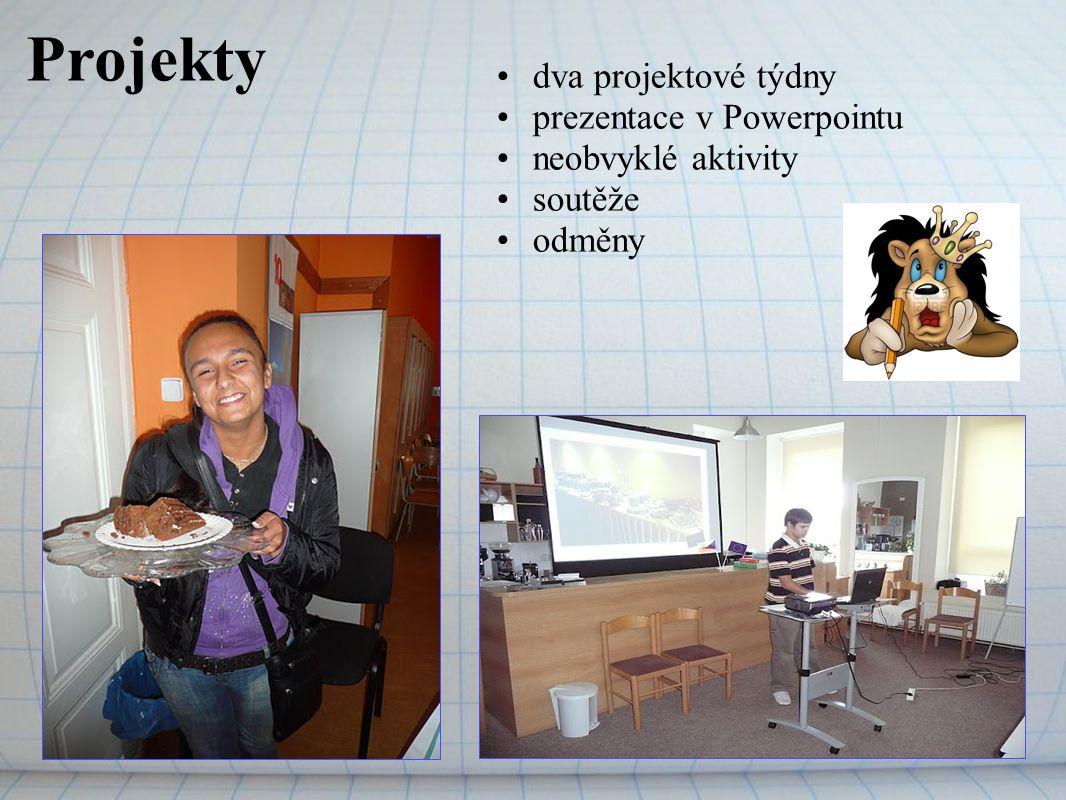 Projekty dva projektové týdny prezentace v Powerpointu