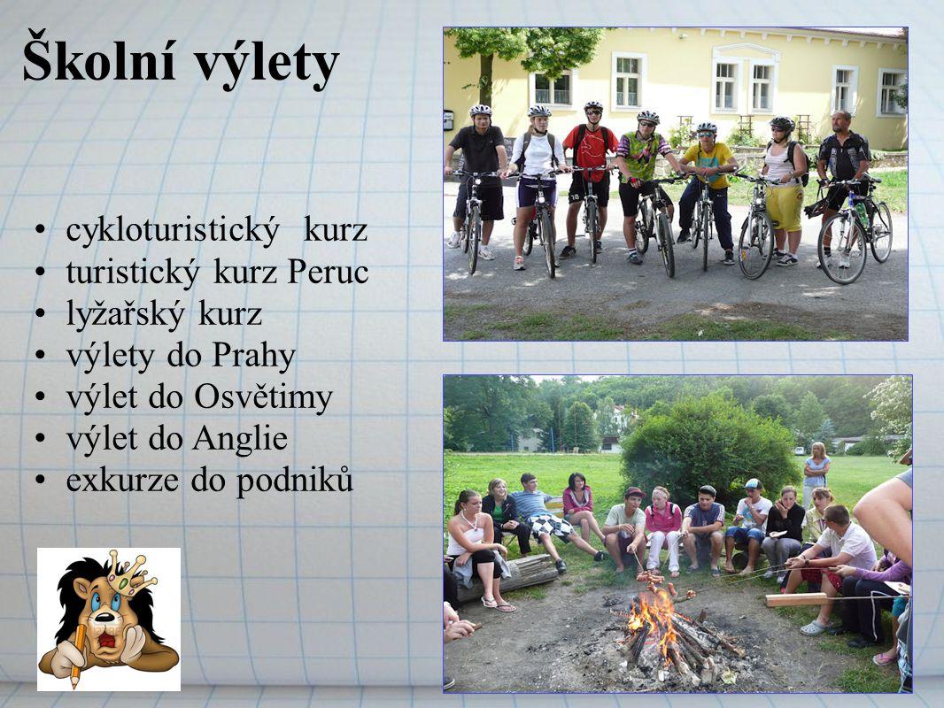 Školní výlety cykloturistický kurz turistický kurz Peruc lyžařský kurz
