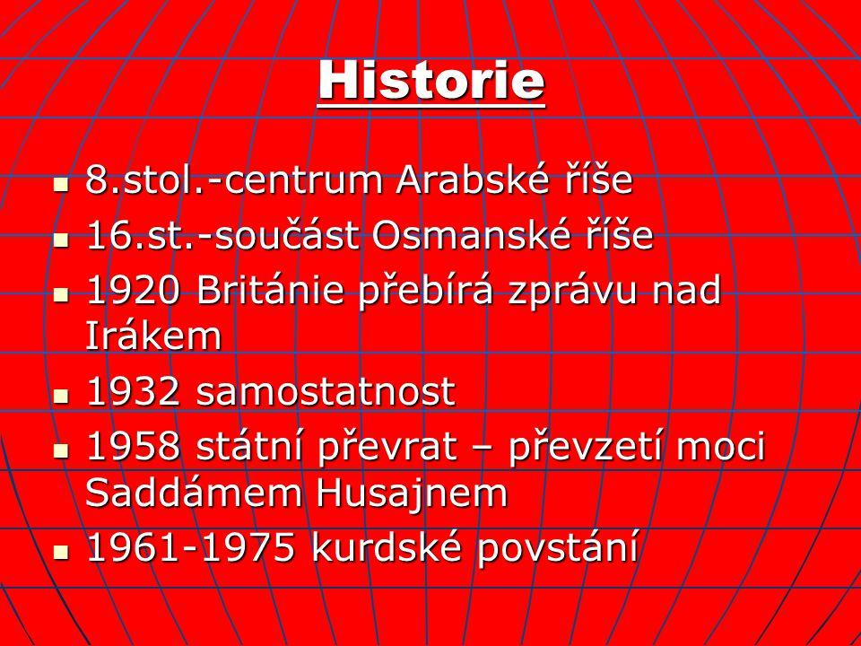 Historie 8.stol.-centrum Arabské říše 16.st.-součást Osmanské říše