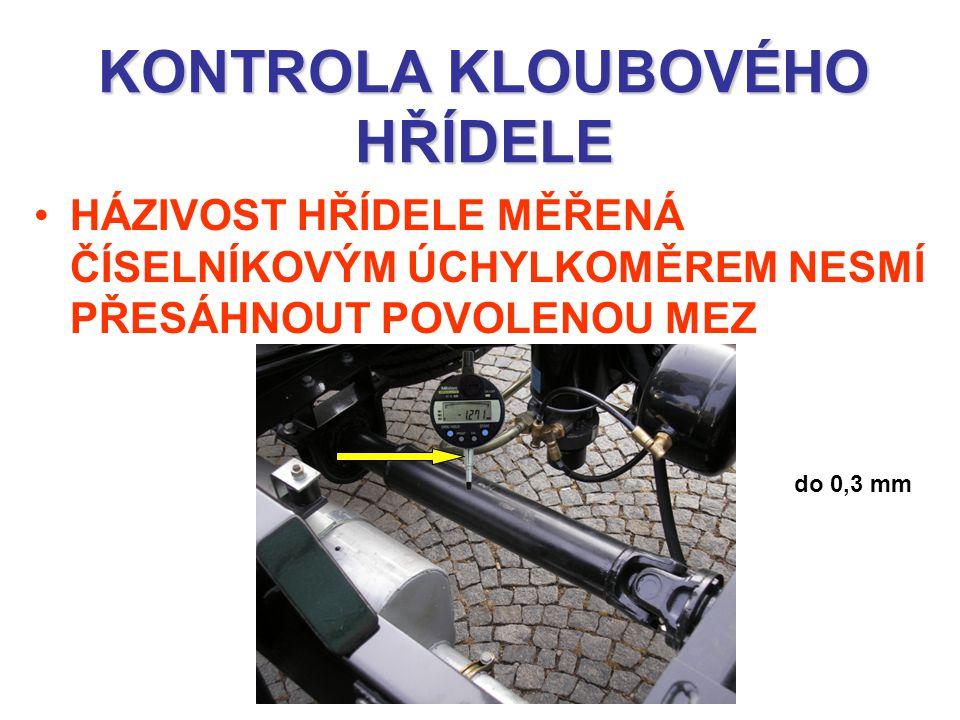 KONTROLA KLOUBOVÉHO HŘÍDELE