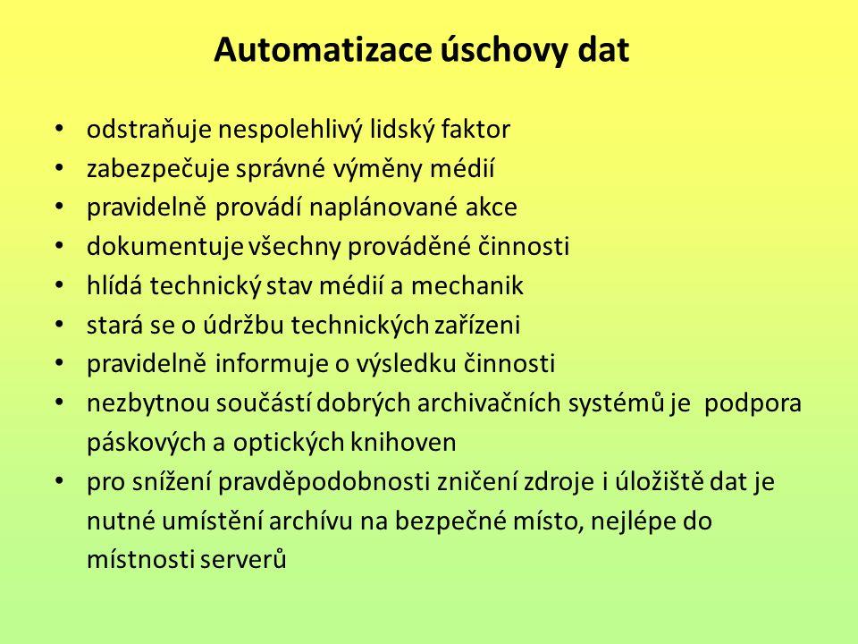 Automatizace úschovy dat