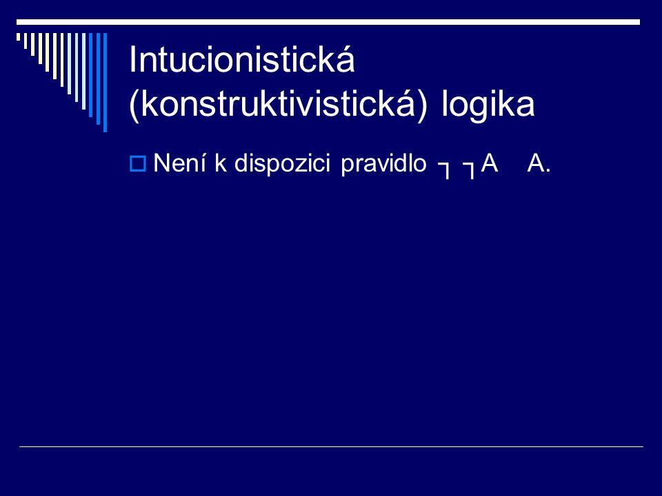 Intucionistická (konstruktivistická) logika