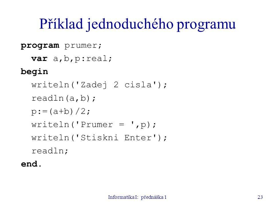 Příklad jednoduchého programu