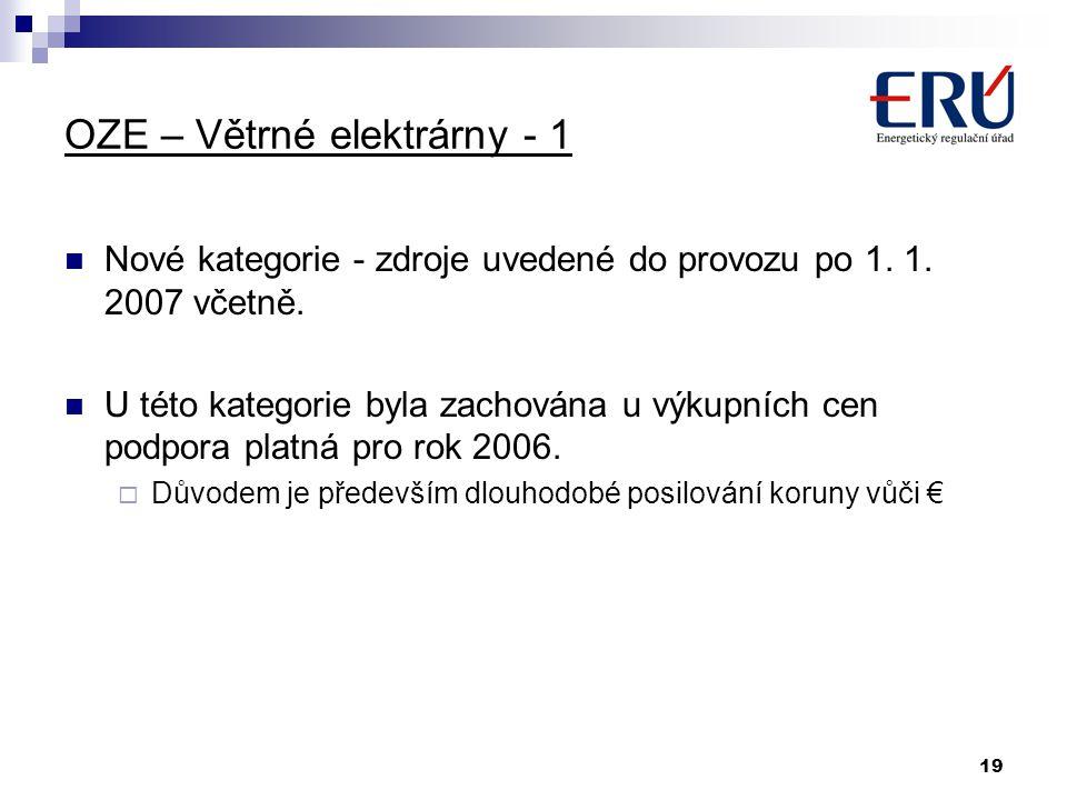 OZE – Větrné elektrárny - 1
