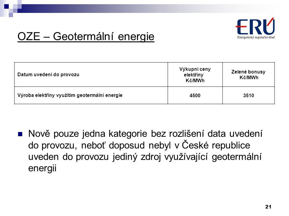 OZE – Geotermální energie