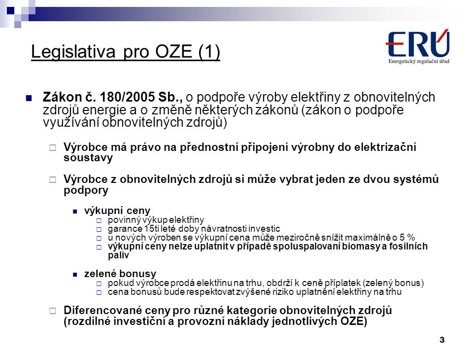 Legislativa pro OZE (1)