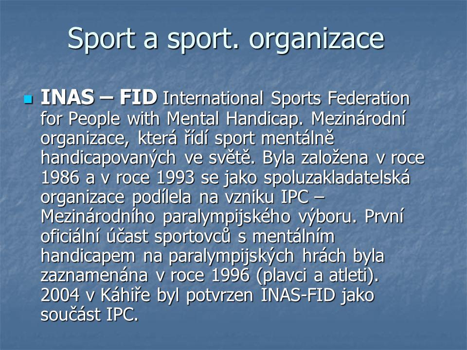 Sport a sport. organizace