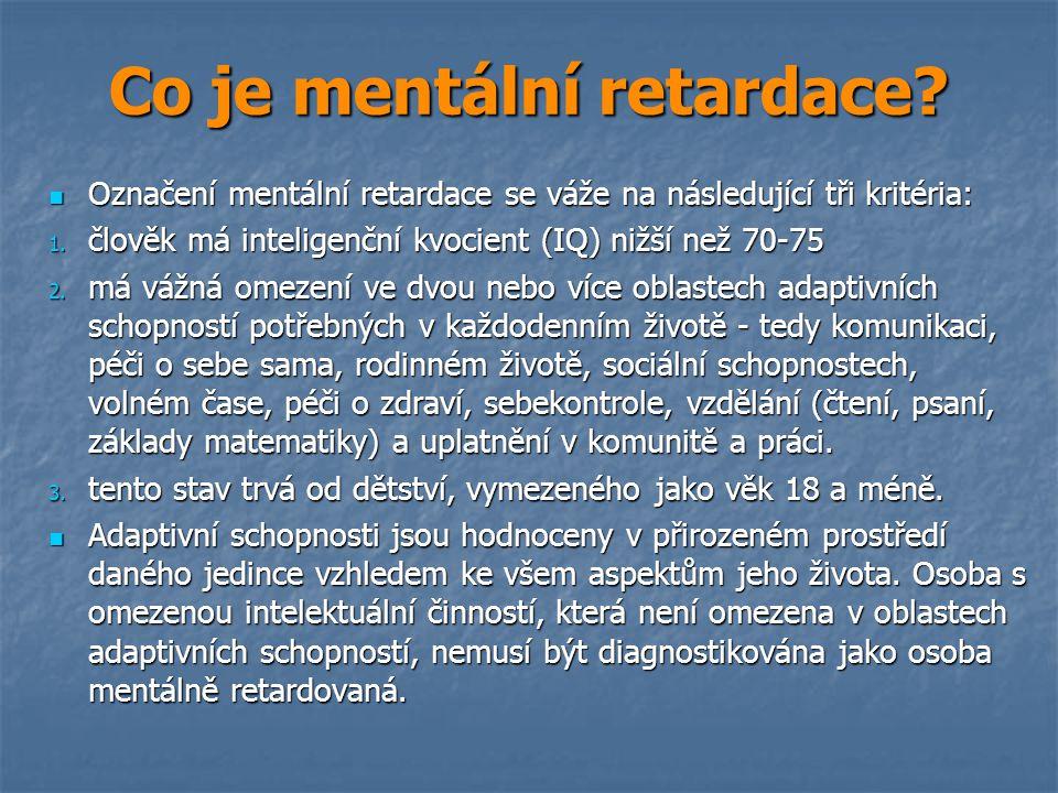 Co je mentální retardace