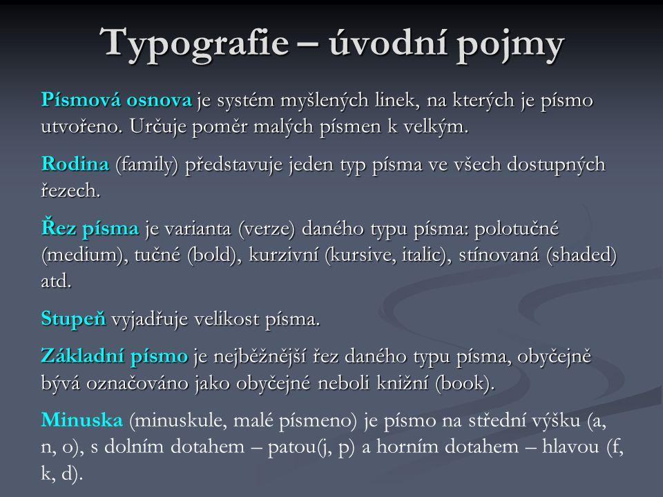 Typografie – úvodní pojmy