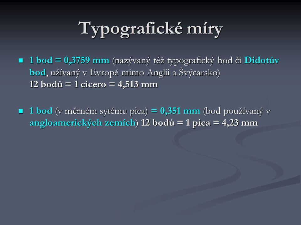 Typografické míry