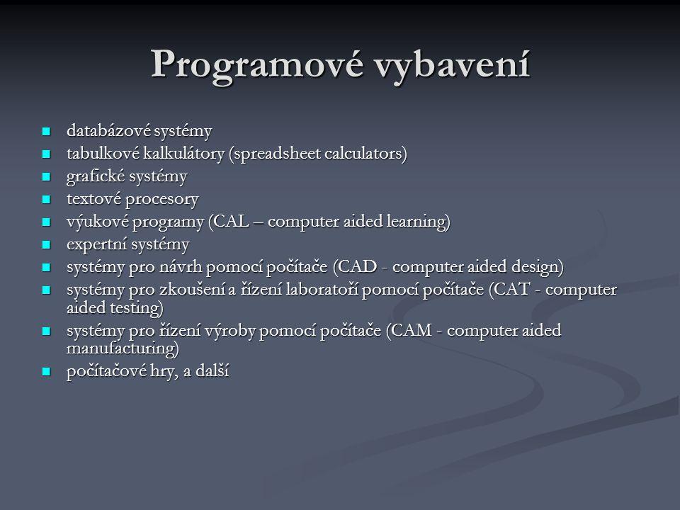 Programové vybavení databázové systémy
